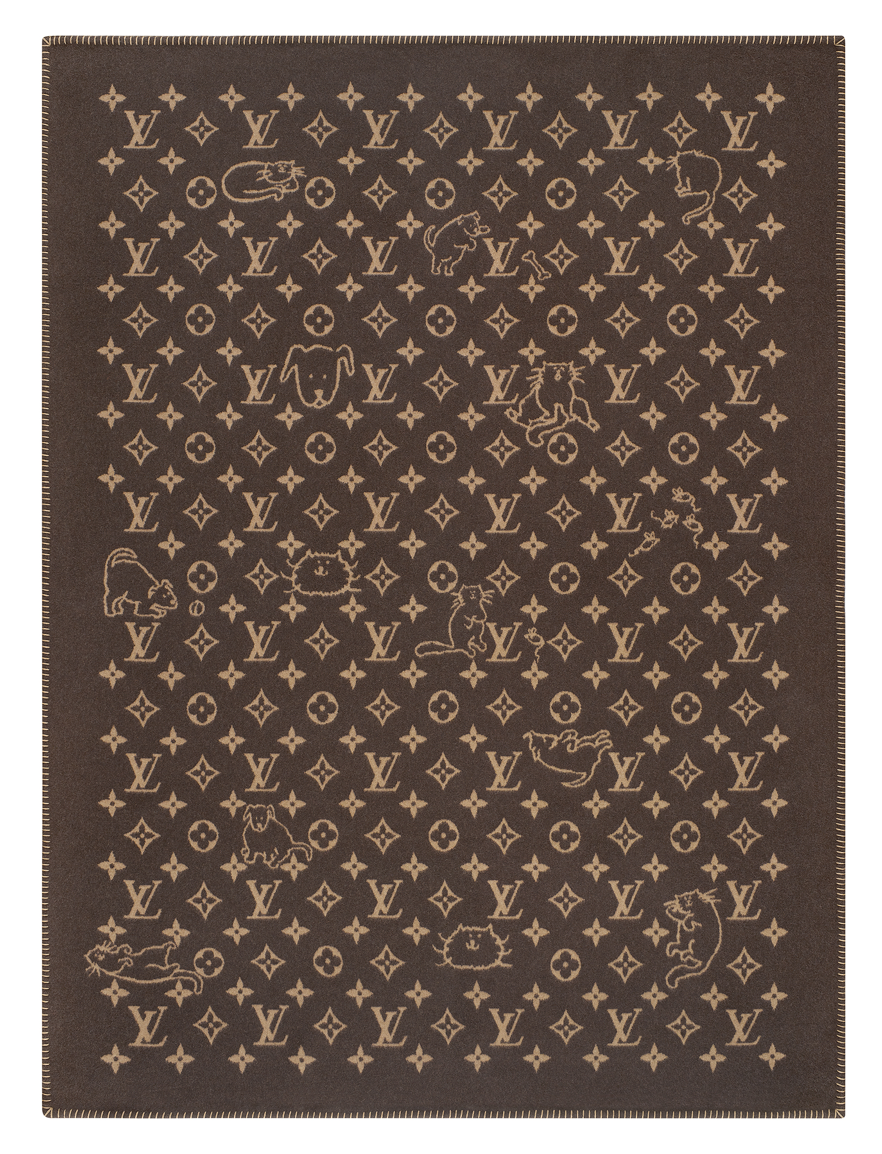 1fb993efddcc Cozy on Up. Keep warm this winter with a reversible lambswool blanket.  Credit  Grace Coddington x LV