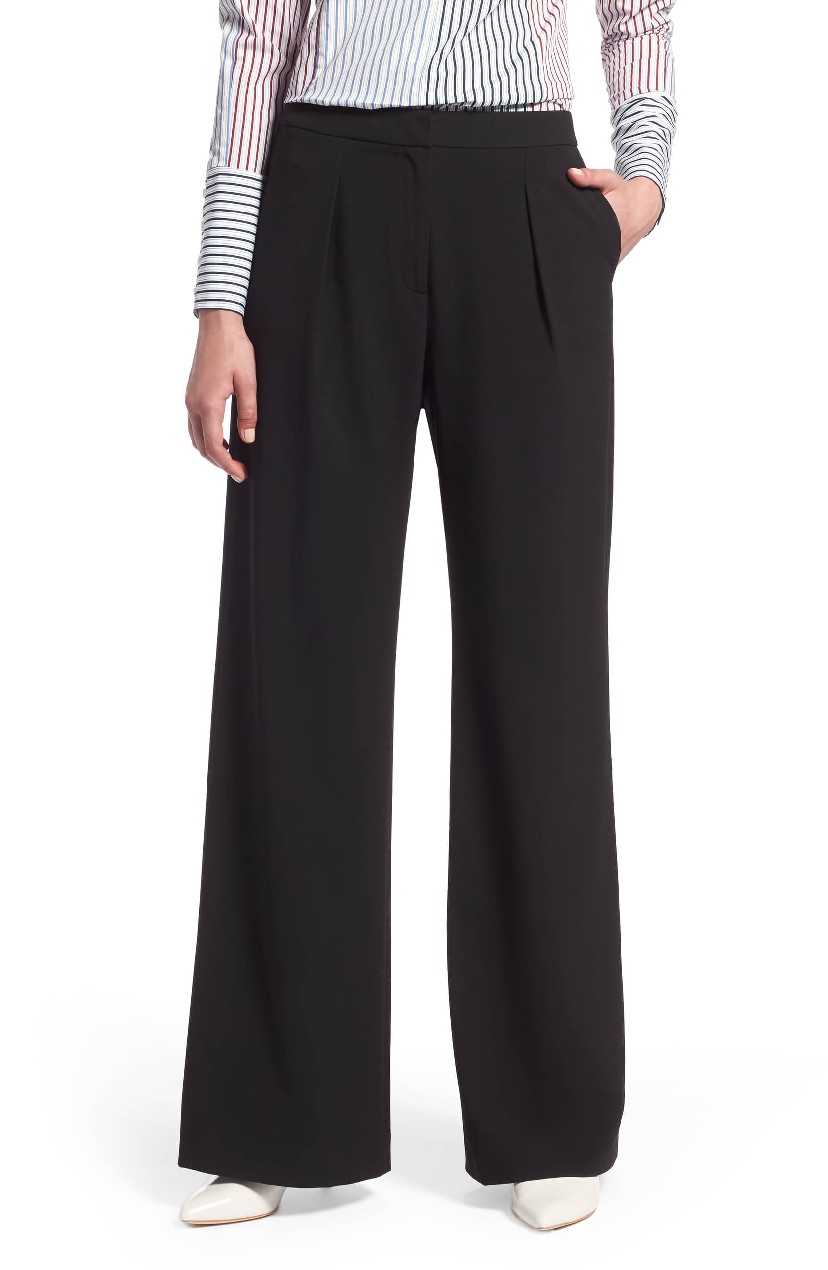 Halogen High Waist Wide-Leg Pants
