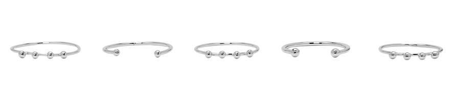 Isabel Marant Silver Stacking Ring Set