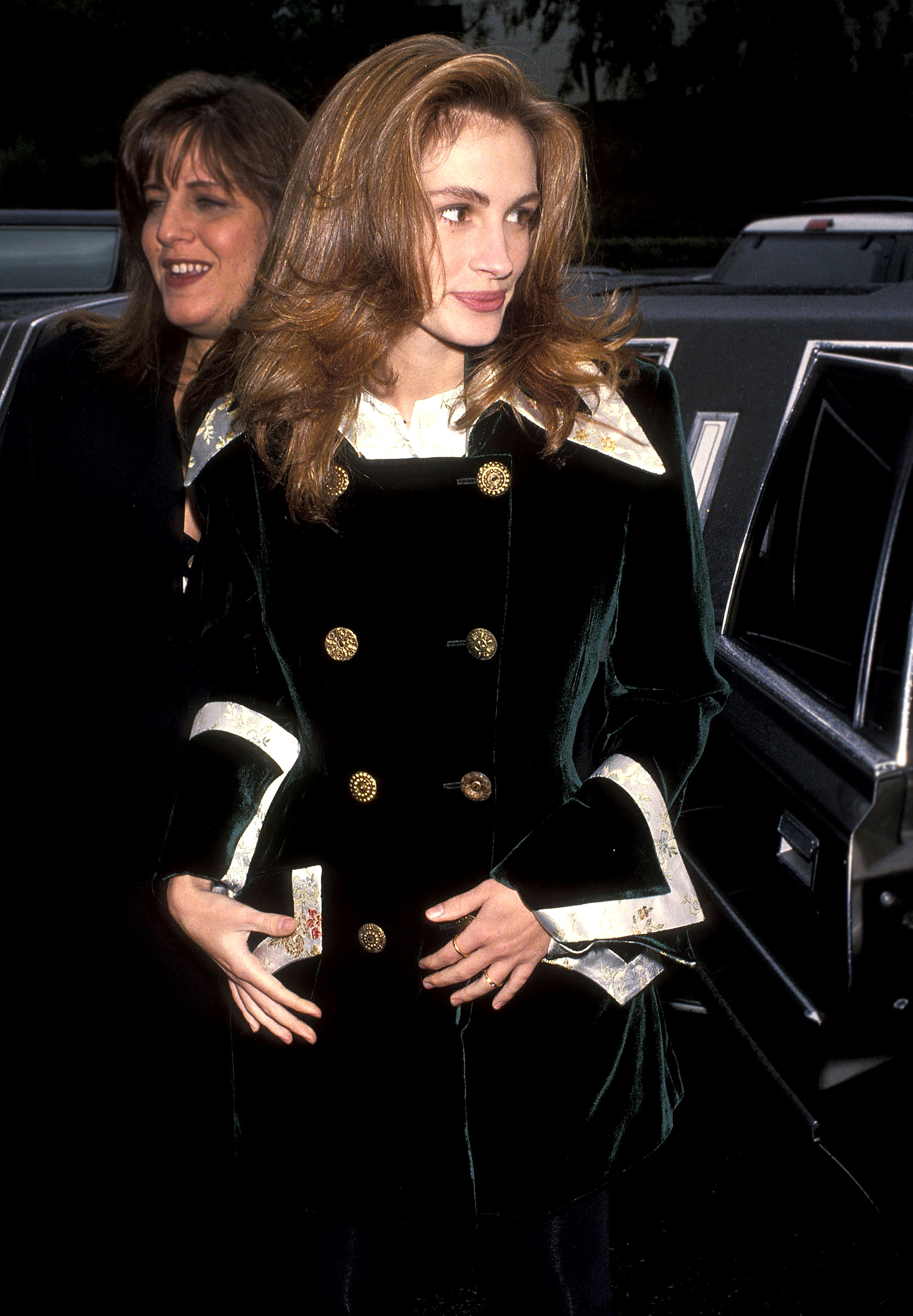 Julia Roberts - We're not sure what we love most about this look from a January 1993 SAG event: Roberts' glam double-breasted velvet blazer or her super bouncy blowout.