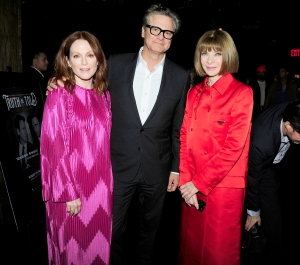 Julianne Moore, Colin Firth and Anna Wintour