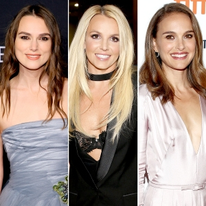 Keira Knightley, Britney Spears, and Natalie Portman