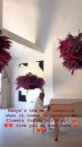 Kim Kardashian West, Kanye West, Birthday, Flowers