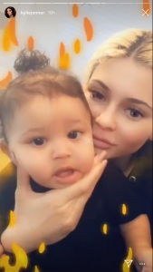 Kylie Jenner Goofs Around With Stormi Who Has New Teeth