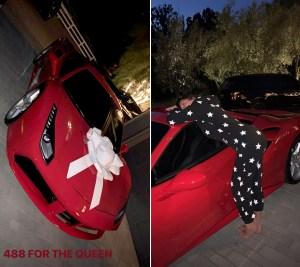 Kylie Jenner surprises Kris Jenner with a Ferrari