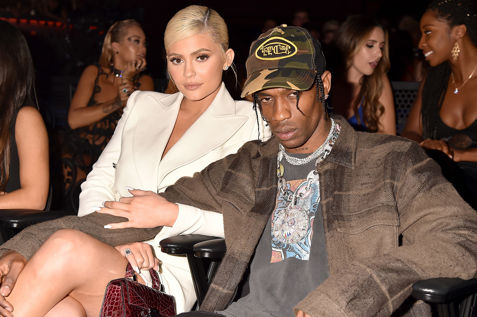 Kylie Jenner, Travis Scott, Babies - Kylie Jenner and Travis Scott attend the 2018 MTV Video Music Awards at Radio City Music Hall on August 20, 2018 in New York City.