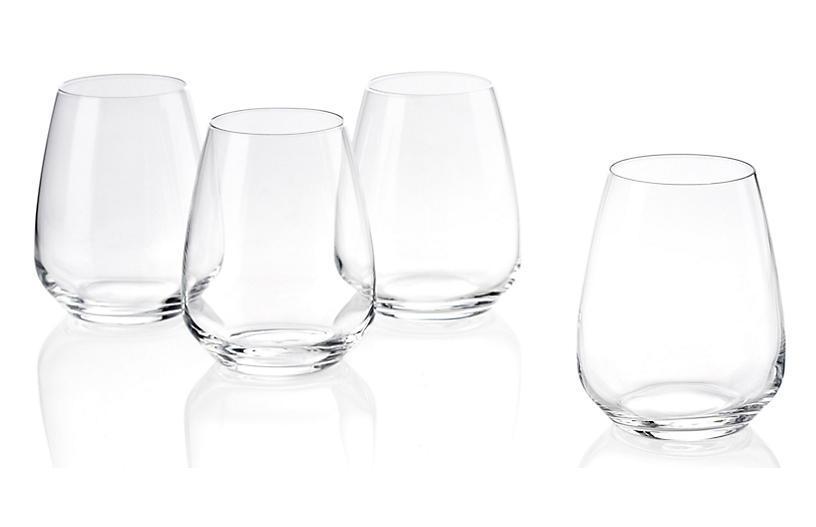 LUIGI BORMIOLI S:6 Plaza Stemless White-Wine Glasses-One Kings Lane