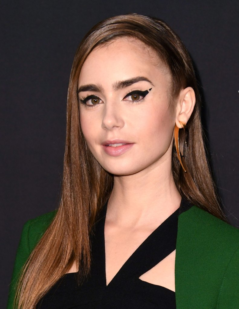 Lily Collins' Wears Graphic Eyeliner to 2018 InStyle ...
