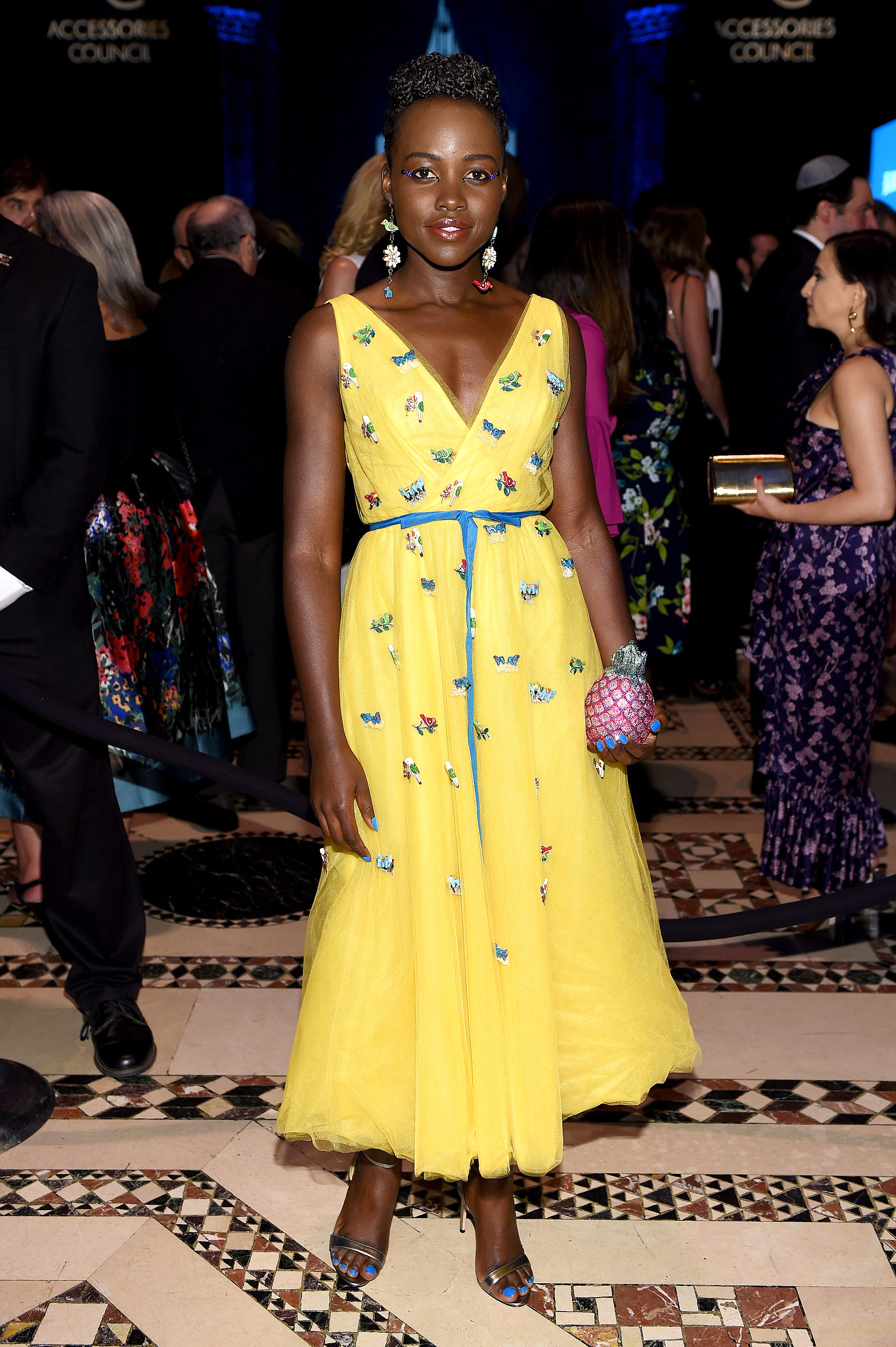 Lupita-Nyongo - In a $3,990 embroidered frock on June 11.