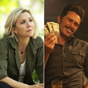 Maggie Gyllenhaal and James Franco on 'The Deuce'