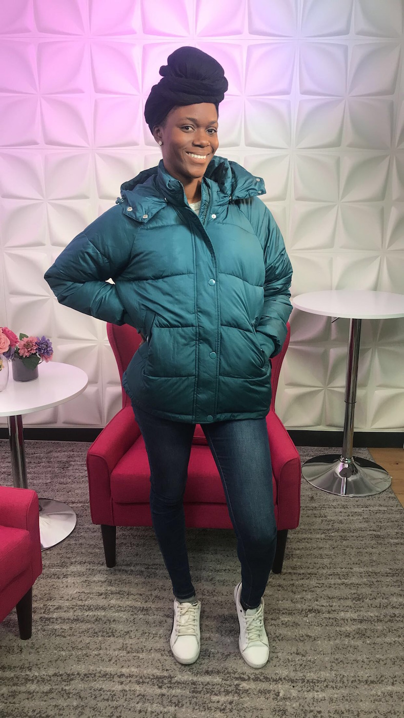 Marquaysa Battle wearing Explorer Winter Puffer Jacket
