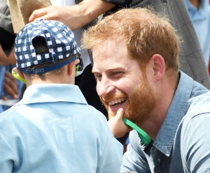 Prince Harry Beard Rubbed