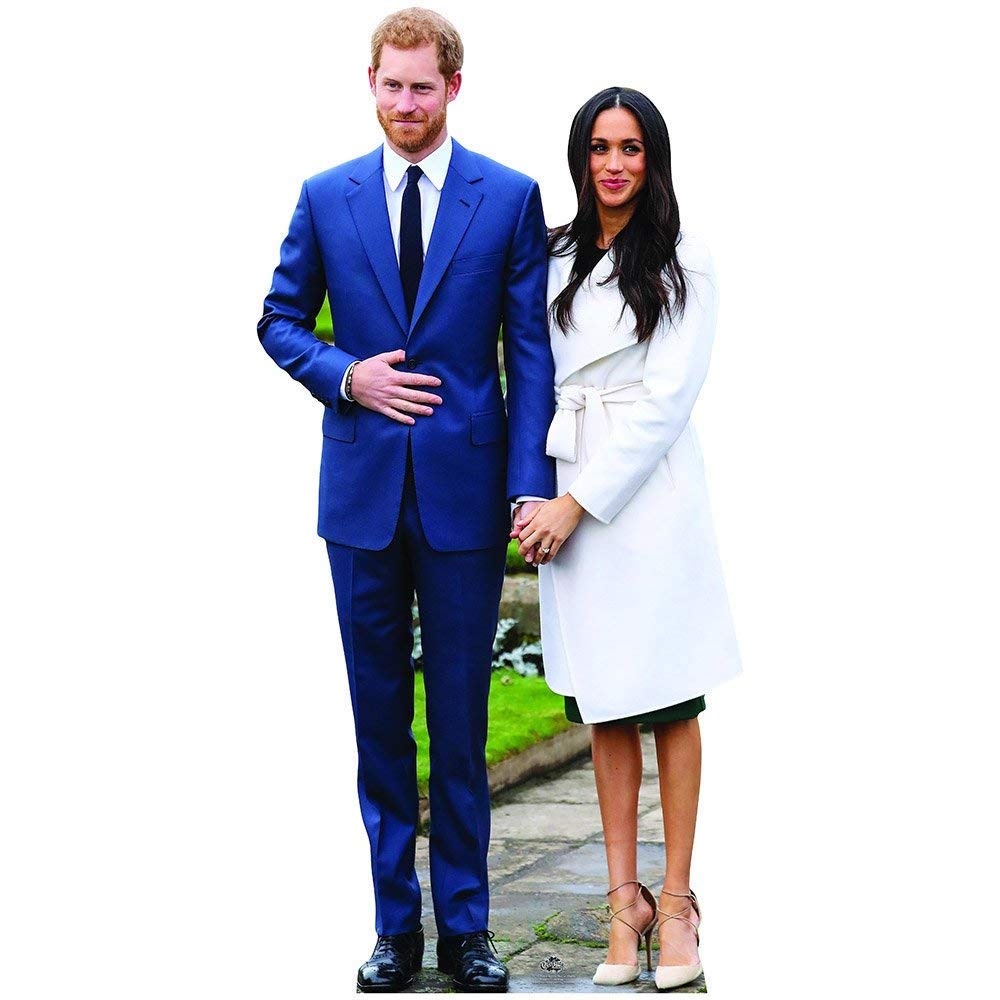 Prince Harry and Meghan Markle Life Size Cardboard Cutout