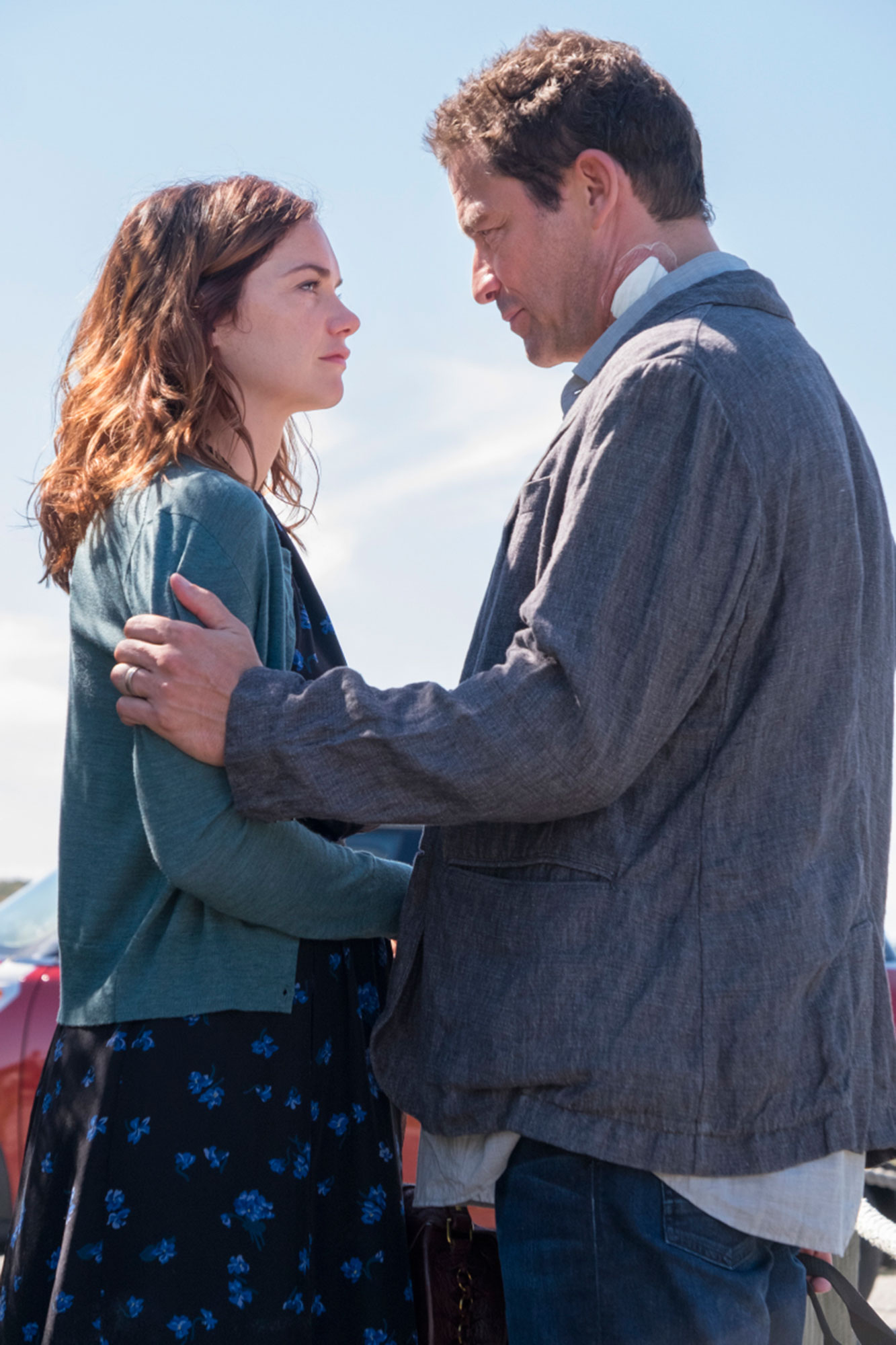 Ruth Wilson Dominic West - Ruth Wilson as Alison and Dominic West as Noah Solloway in The Affair (season 3, episode 5).