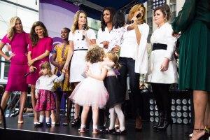 Karlie Kloss, Zandaya, Frieda Pinto, Savannah Guthrie, Michelle Obama, Hota Kotb, and Kelly Clarkson