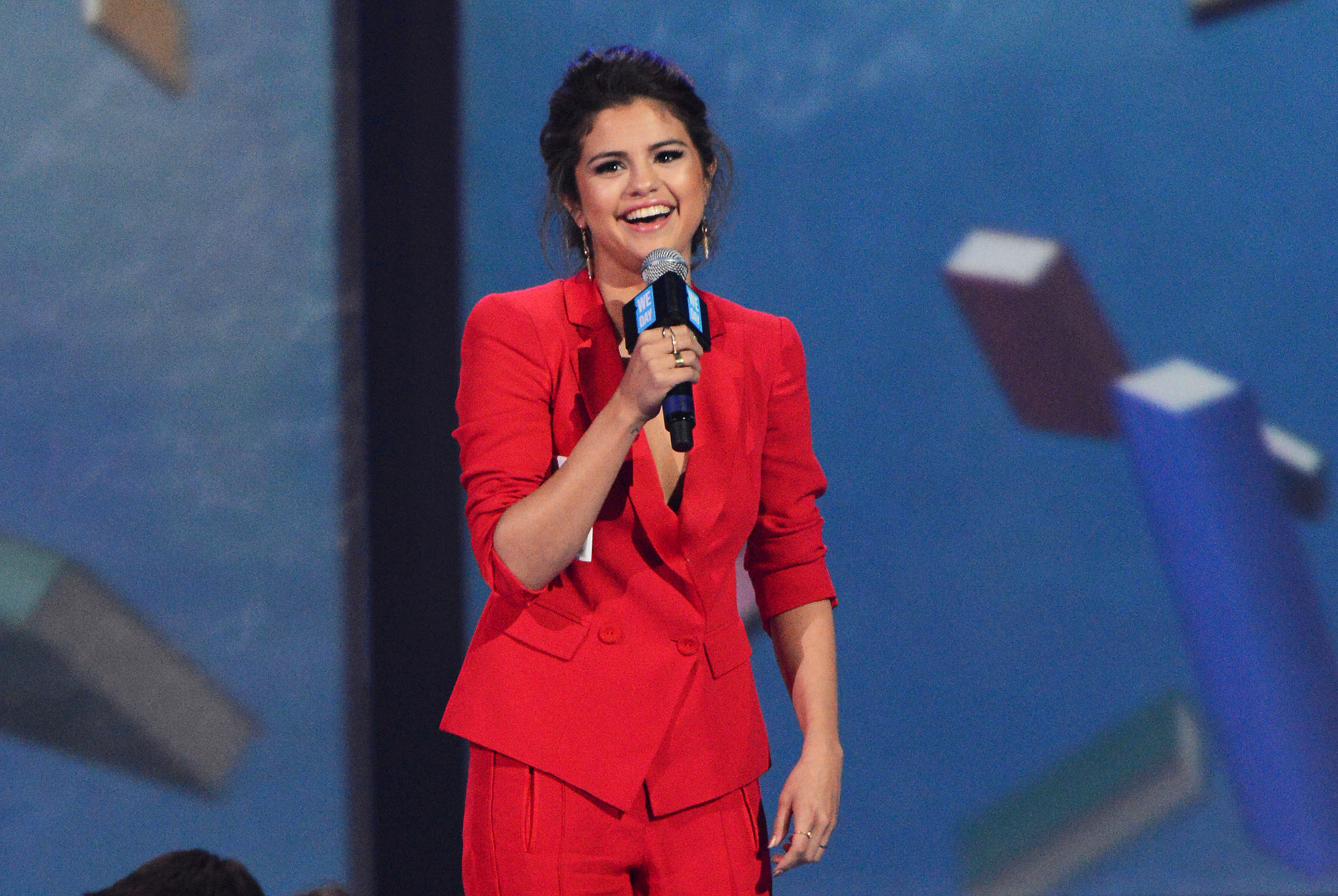 """Selena Gomez's Mental Health Battle In Her Own Words - The Disney alum gave an inspiring speech at the We Day conference in March 2014. """"I'm surrounded by people who are supposed to guide me, and some of them have, and others haven't. They pressure me. There's so much pressure. You gotta be sexy, you gotta be cute, you gotta be nice. You gotta be all these things,"""" she told the crowd."""