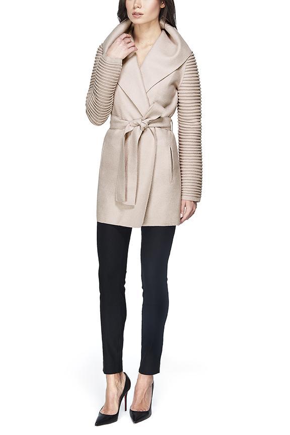 Sentaler Rib Sleeve Alpaca Wrap Coat