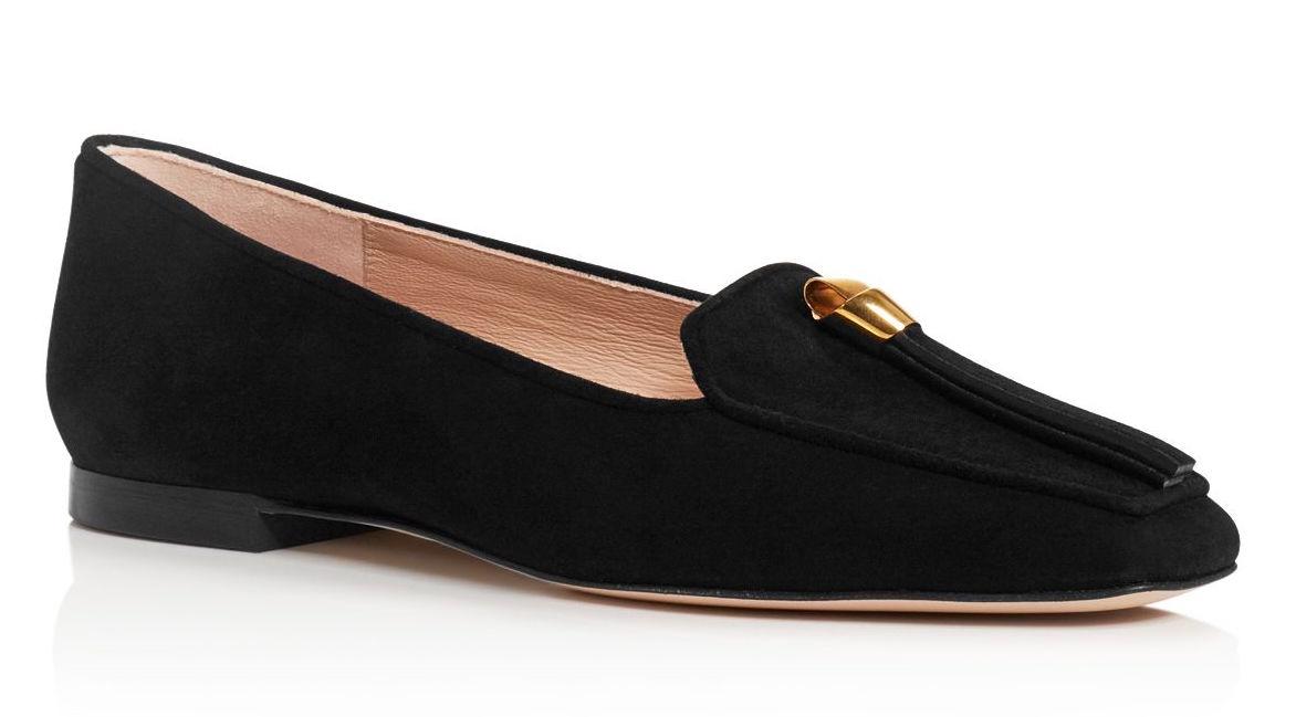 Stuart Weitzman Women's Slipknot Suede Loafers