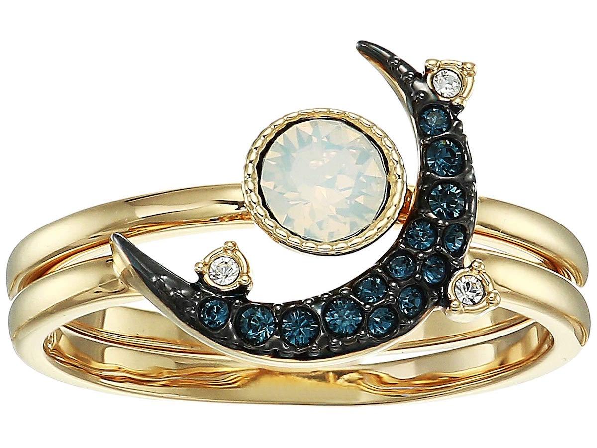 Swarvoski Duo Moon Ring