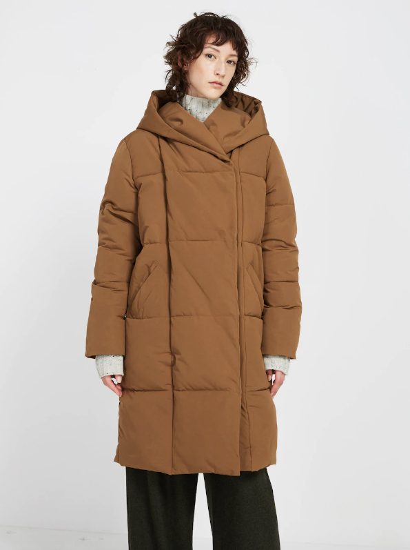 The Hygge Oversized Cocoon Coat in Coffee Liqueur