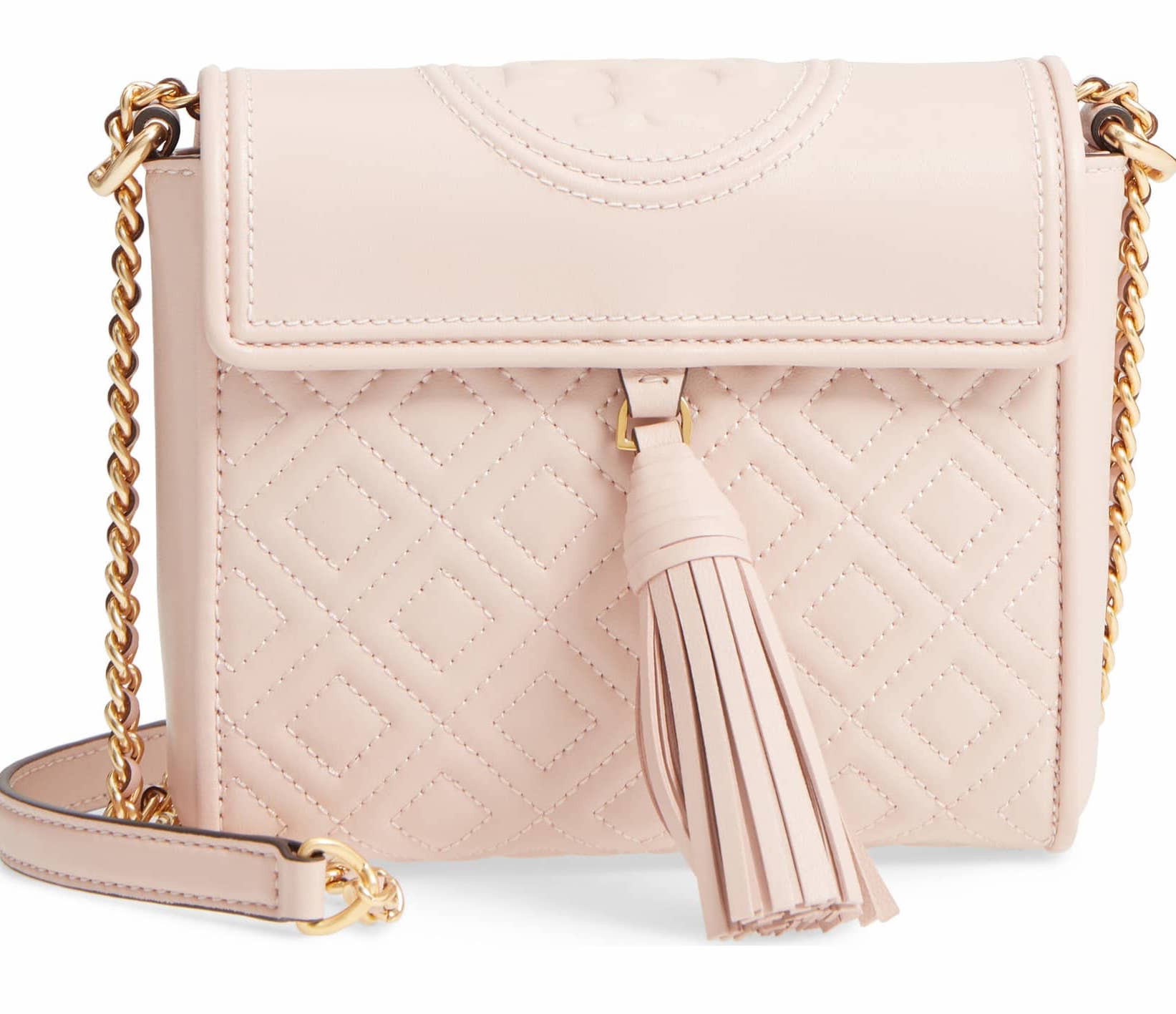 Tory Burch Fleming Quilted Leather Cross-Body Bag