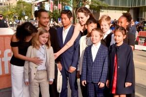 Loung Ung, Vivienne Jolie-Pitt, Maddox Jolie-Pitt, Pax Jolie-Pitt, Angelina Jolie, Kimhak Mun, Knox Jolie-Pitt, Shiloh Jolie-Pitt, Zahara Jolie-Pitt and Sareum Srey Moch.