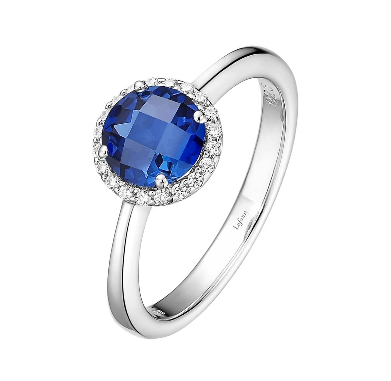 lafonn birthstone halo ring