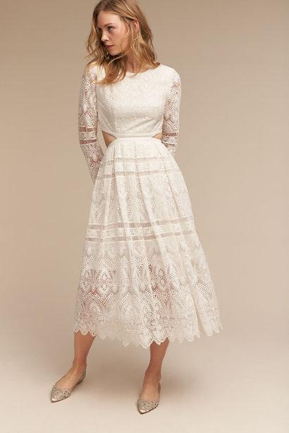 badgley mischka flats with a dresss