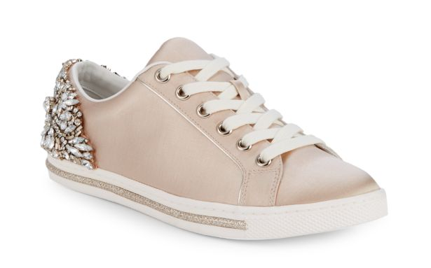 badgley mischka shirley embellished sneakers