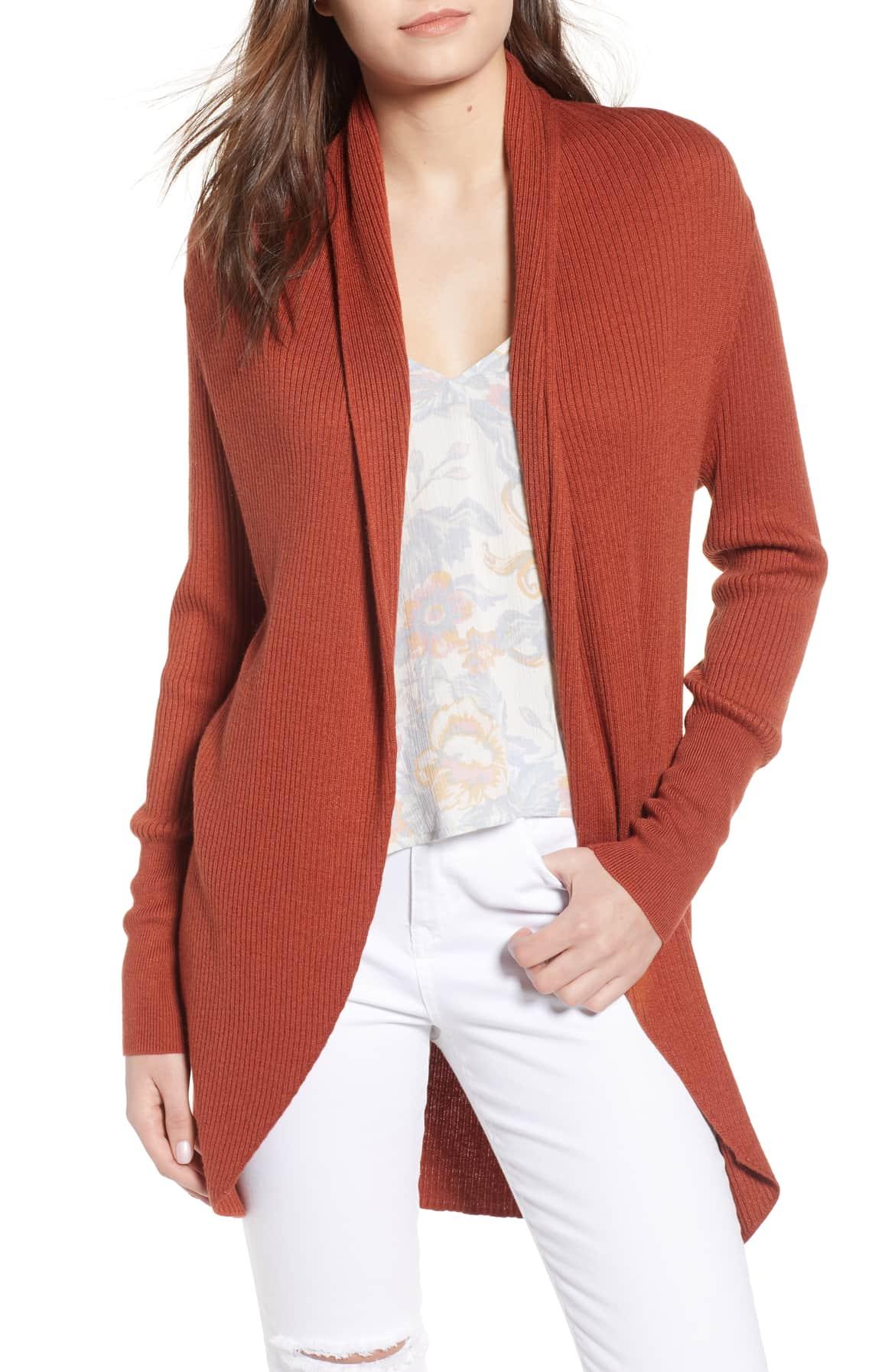 brown spice cardigan sweater shawl