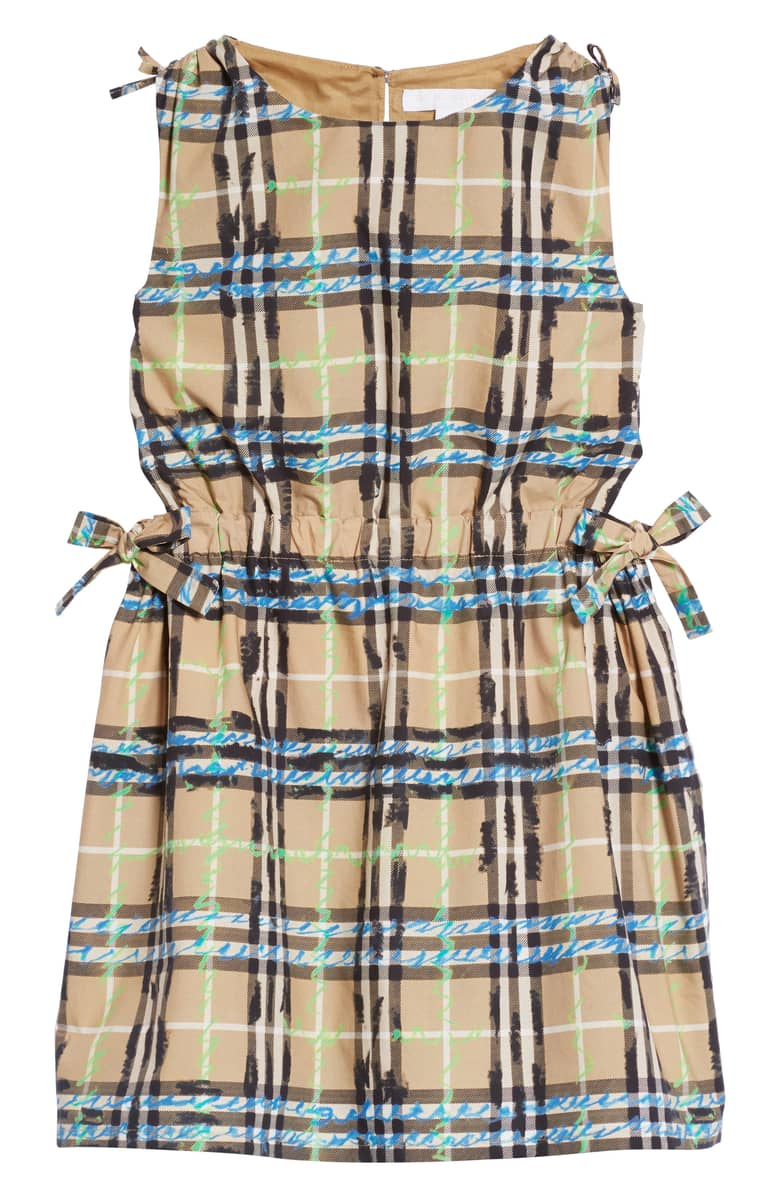 burberry checked girls dress