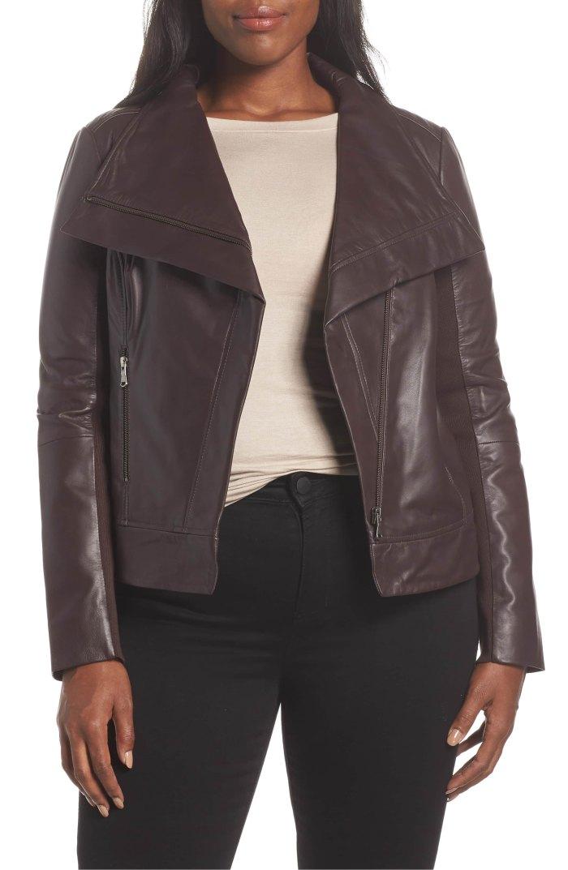 burgundy fudge leather lambskin jacket