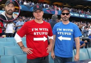 Matt Damon and Jimmy Kimmel, Ben Affleck