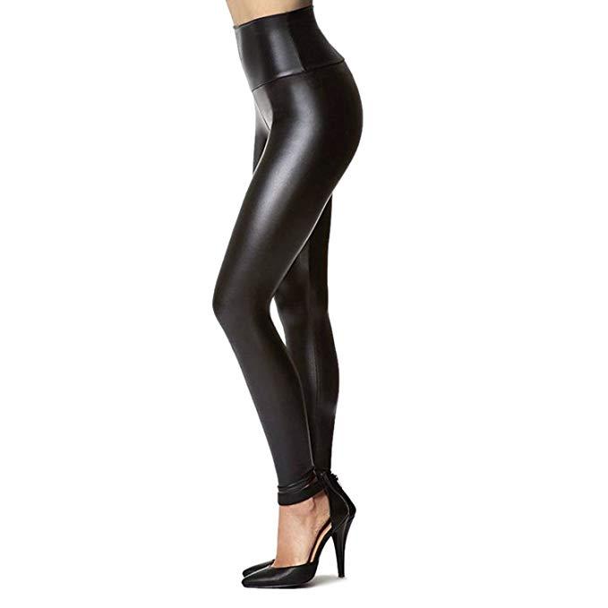 leggings de piel sintética