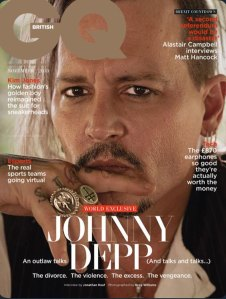 Johnny Depp on the cover of GQ