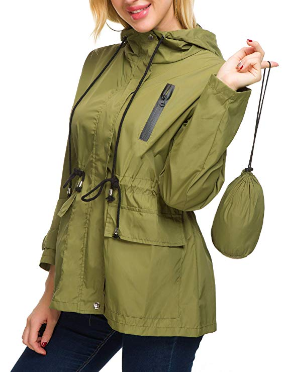 green rain jacket amazon