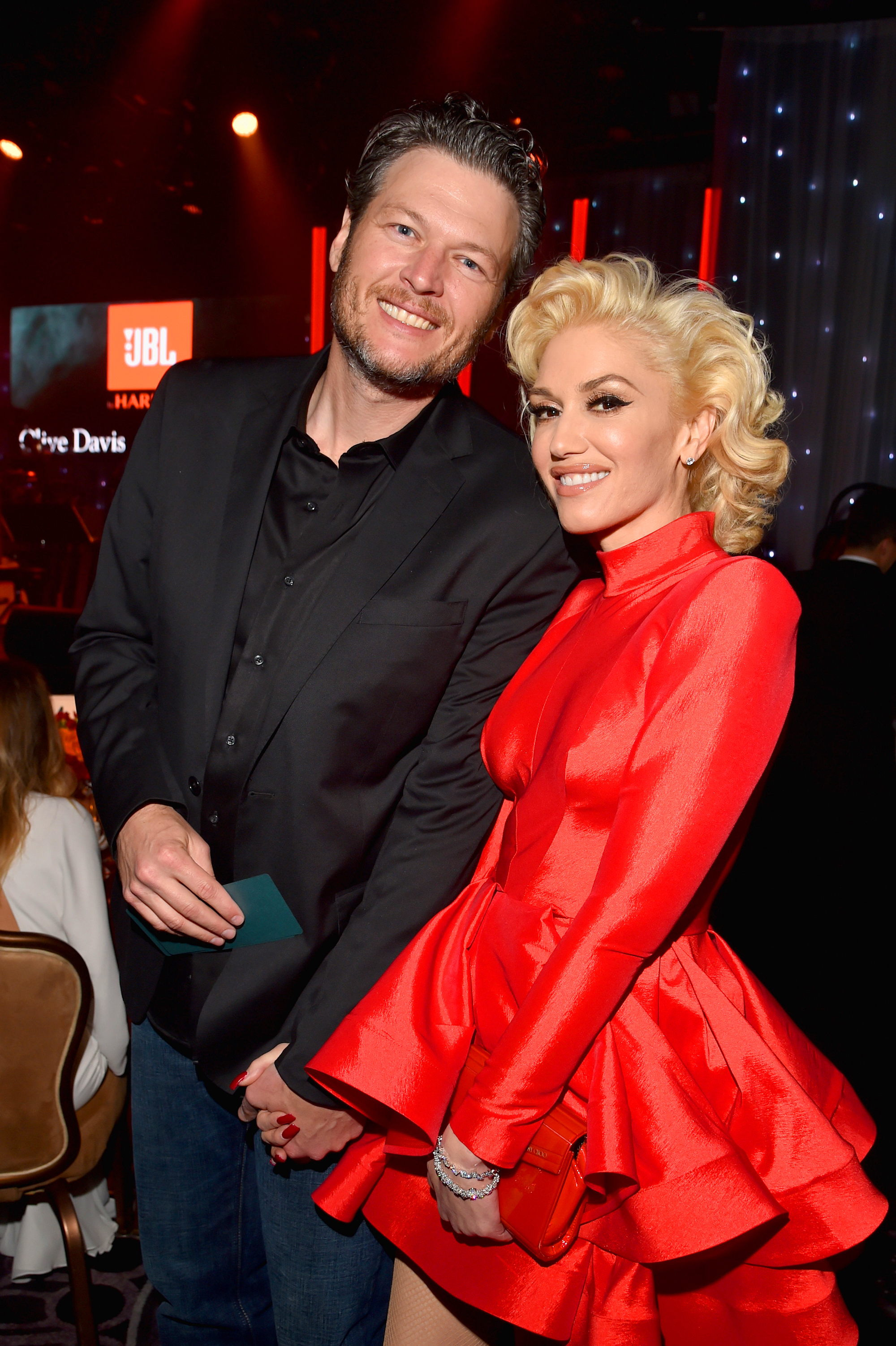 hot rebound romance - BEVERLY HILLS, CA – FEBRUARY 14: Recording artists Blake Shelton (L) and Gwen Stefani attend the 2016 Pre-GRAMMY Gala and Salute to Industry Icons honoring Irving Azoff at The Beverly Hilton Hotel on February 14, 2016 in Beverly Hills, California. (Photo by Lester Cohen/WireImage)