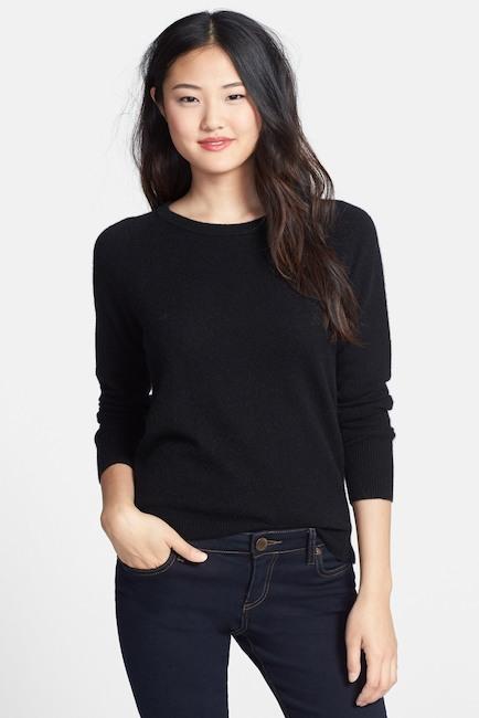 suéter halógeno de cachemir con cuello redondo nordstrom