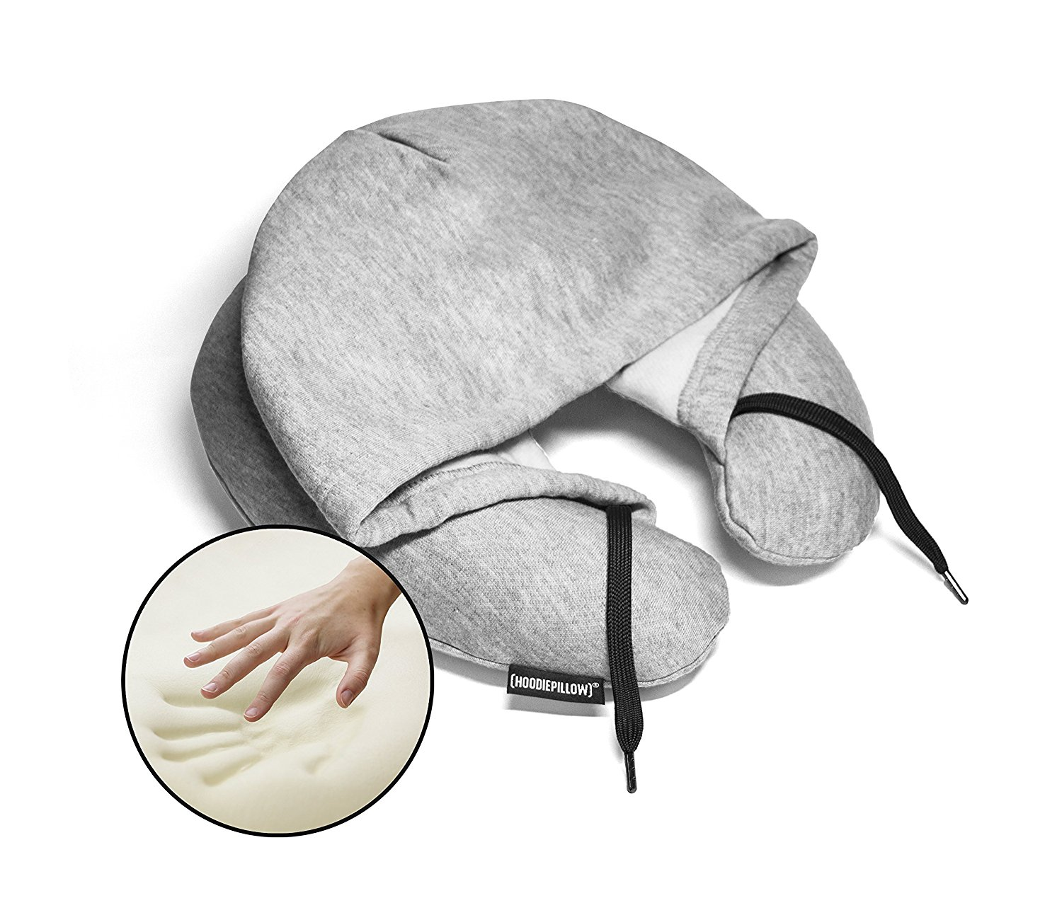 hoodie pillow memory foam travel pillows