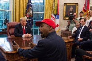 President Donald Trump meets with rapper Kanye West