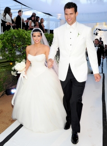 Kim Kardashian and Kris Humphries at their wedding