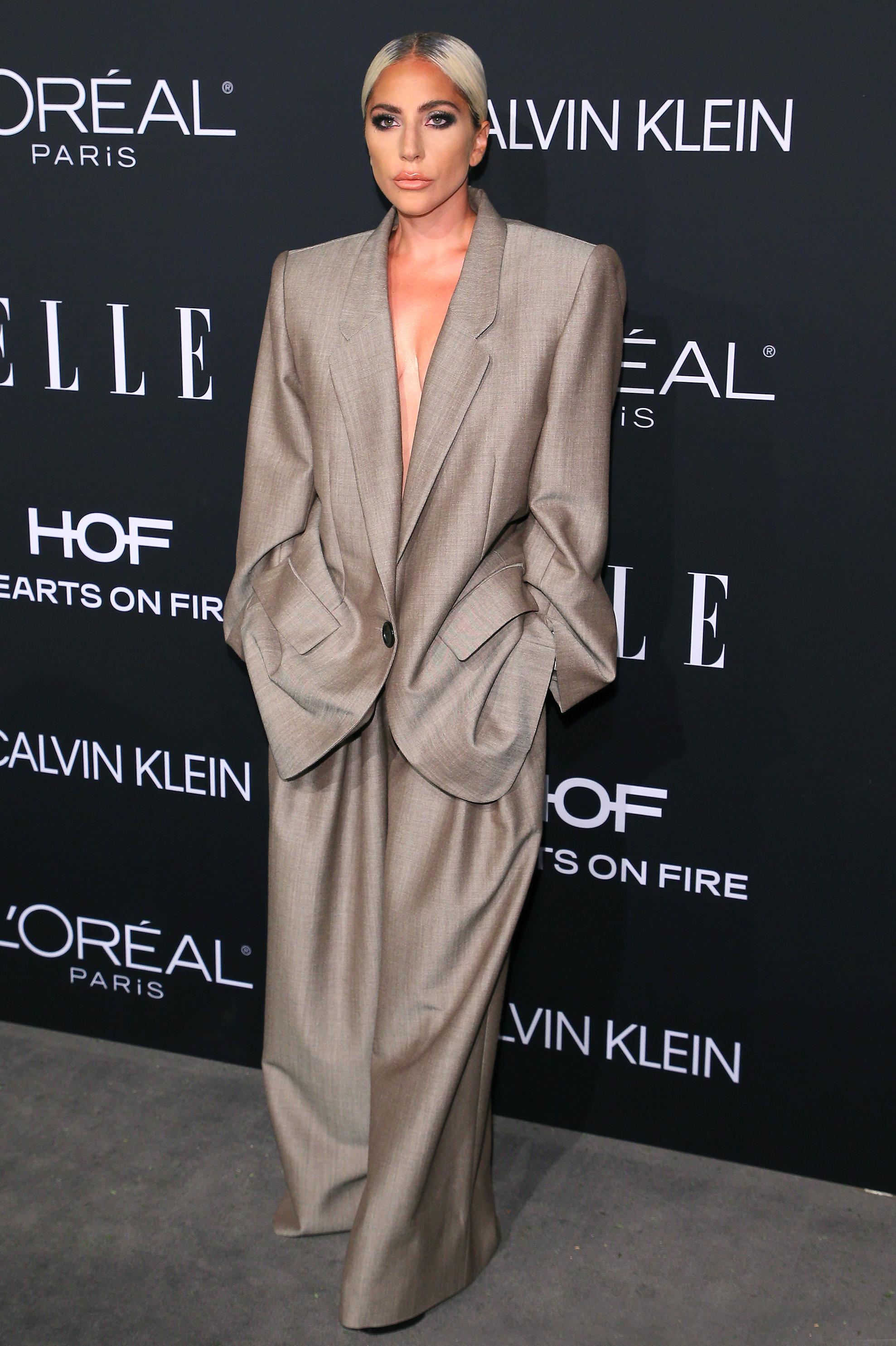 2018 \u0027Elle\u0027 Women In Hollywood Celeb Red Carpet Dresses, Suits