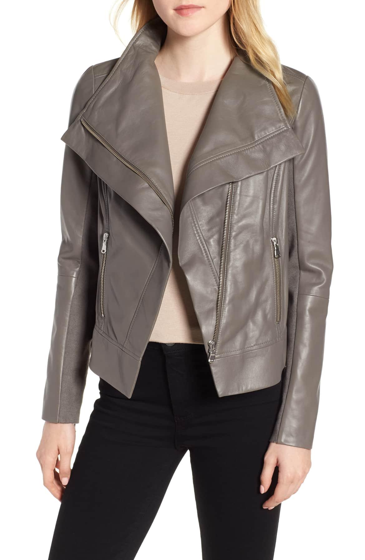 lambskin leather jacket nordstrom
