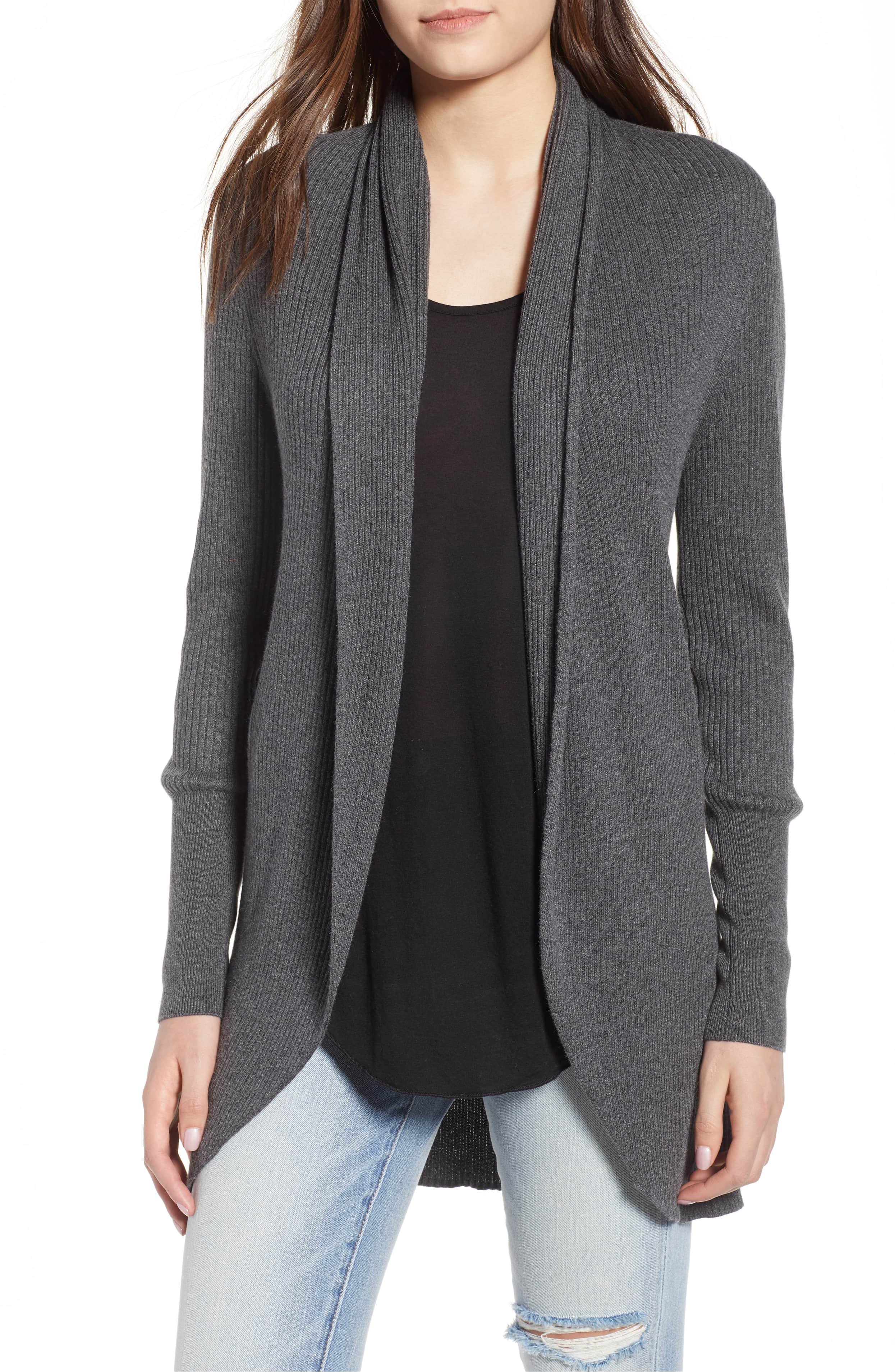 leith shawl cocoon sweater gray nordstrom