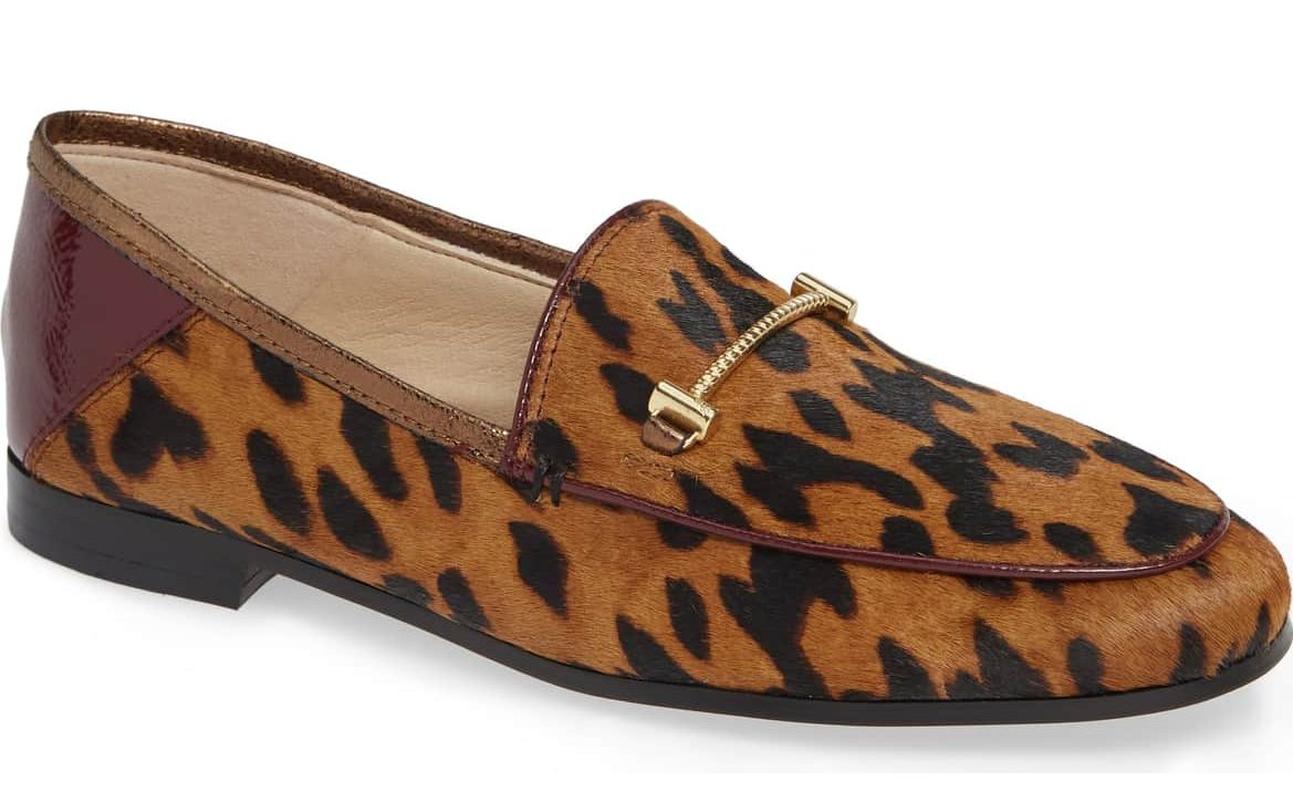 leopard print brown patent leather ankle