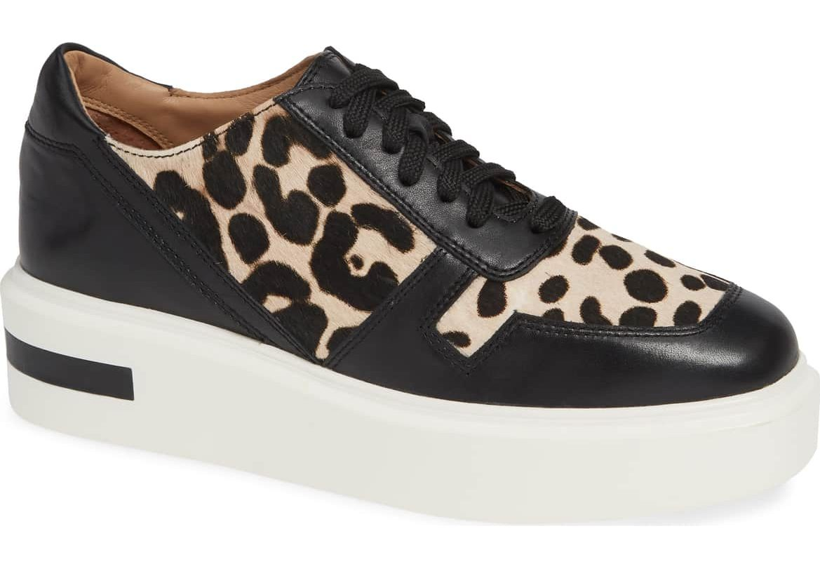 linea paolo kyree platform sneaker animal print