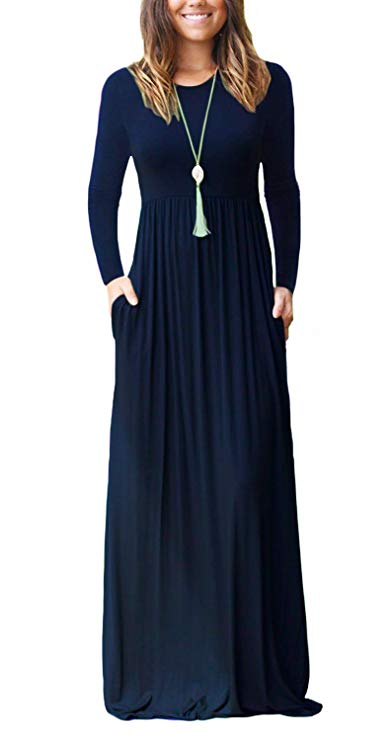 long sleeve maxi dress amazon