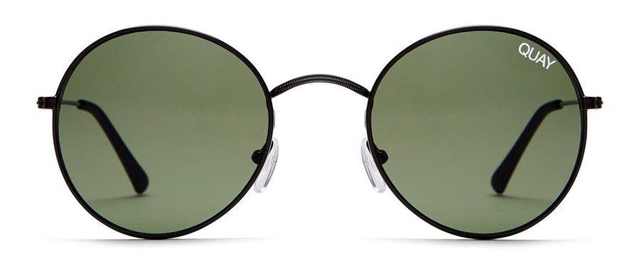 green sunglasses with black rim