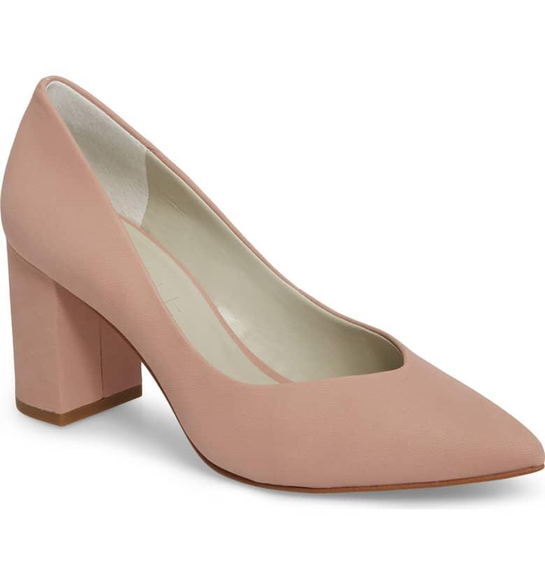 neutral shade saffy block heel