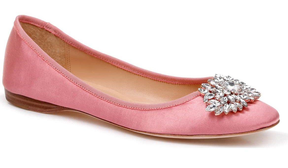 pink badgley mischka flats